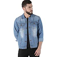 VROJASS Full Sleeve Solid Men Light Blue Denim Jacket