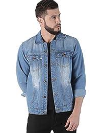 VROJASS Full Sleeve Solid Men Light Blue Denim Jacket