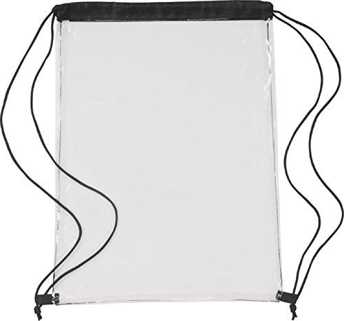 Rucksack transparent mit Kordel (schwarz)