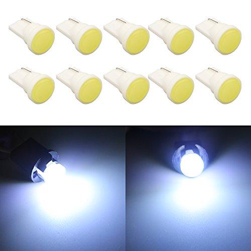 Grandview 60 Lumens Blanc 194 2825 T10 W5W 168 501 192 Ampoule LED Super Bright Ampoule Ampoule à Compartiments Ampoule à Ampoules à Ampoules à Hauteur Centrale 1.5W 12V 10-Pack