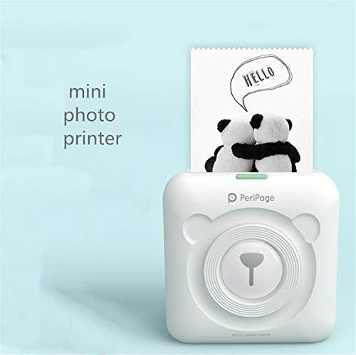 LUCKY CLOVER-A Mini-Fotodrucker, Drahtlose Bluetooth Tasche Handy Instant Foto Drucker Freundin Geschenk Weiße Farbe Reise Gedenkfotos Spielzeug, 57 * 30mm