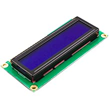LCD 16x2 Character - White on Blue 5V with Male Header Pin for Arduino, AVR