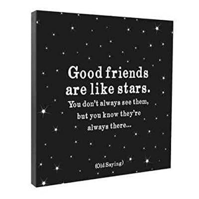 Good Friends Are Like Stars Wall Canvas