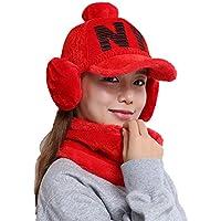 China Show Creativas de Invierno Sombrero con de oído de Cobertura de Warmer emporgeragter Tapas de Tipo de y Forma de béisbol Sombrero Rojo