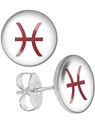 LilMents de color Line signo del zodiaco de Astrología Unisex para hombre Mujer (Acero Inoxidable Tuerca