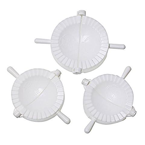 A-szcxtop 3pcs appareil simple avec bénédiction Mots dumplings Presse ravioli