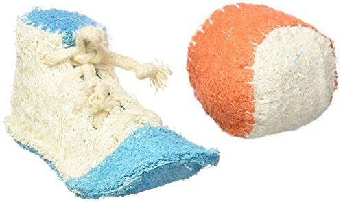 Hip Doggie Sneaker/Ball Luffah Spielzeug Athletic Set