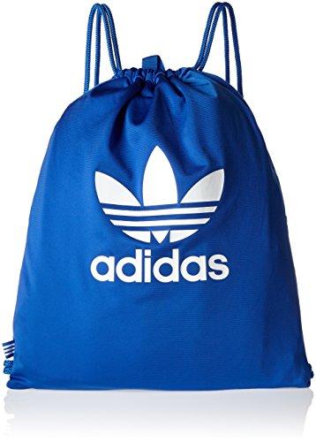 adidas Erwachsene Gymsack Tricot Sportbeutel, Blue, 37 x 47 x 6 cm