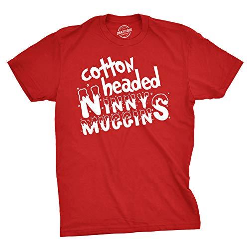 13199f37f Crazy Dog Tshirts - Cotton Headed Ninny Muggins T Shirt Funny Christmas  Shirt Xmas tee (