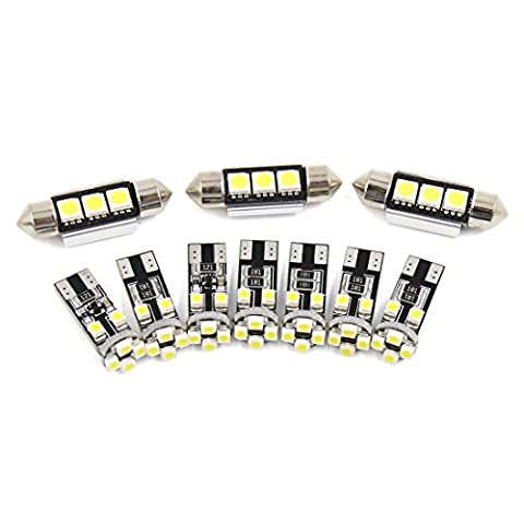 X AUTOHAUX® 10x for BMW 3 Series E46 CONVERTIBLE White Car Interior Dome Map Reading Canbus LED Light