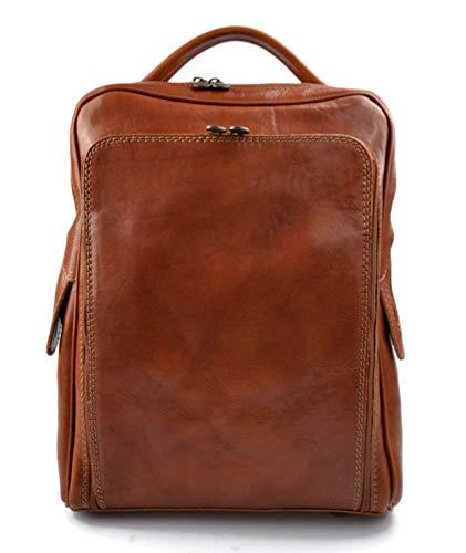 Leder rucksack hüfttasche umhängetasche schultertasche tragetasche ledertasche seitentasche herren damen reisetasche made in Italy honig -