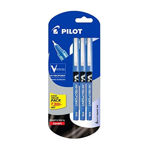 Pilot V5 Pen Liquid Ink Roller Ball Pen - Pack...