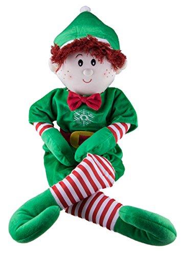 Elf Magic 36 cm-Costume da elfo per bambino, con capelli di peluche, colore: rosso