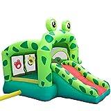 Combo Große Hüpfburg, Kinder Aufblasbare Trampolin Bounce House Frog Bouncy Haus Schloss Mit Luftgebläse Wasserrutsche - 7