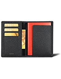 Lucrin - Reisepass und Treue Kartenhalter - Leder genarbt