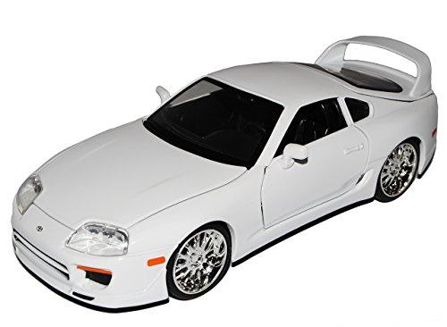 Jada Toyota Supra Weiss Brian´s Paul Walker The Fast and The Furious 1/24 Modell Auto mit individiuellem Wunschkennzeichen