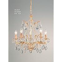 lampadario ferro e cristalli (oro)