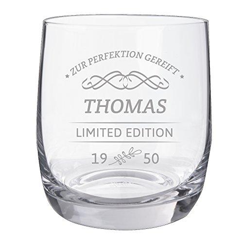 Personello® Whiskyglas mit Gravur, Limited Edition, Name / Jahr / Text personalisiert, graviertes Whiskyglas