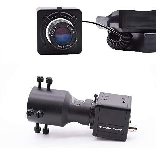 lubishengwuliu Monokular-Nachtsichtkamera mit 25 mm Objektiv, 5,0 Zoll klares Display, um 360 Grad verstellbare Kamera, 5 W erweitert, schiebbare Infrarot-Taschenlampe für Nachtjagen und Höhlen