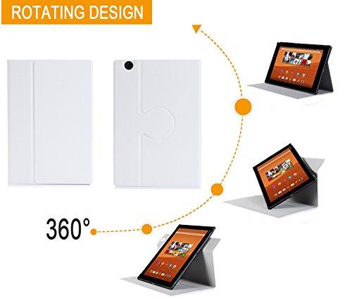 sony tablet z4 XEPTIO Sony Xperia Z4Tablet-Custodia Protezione ultimkaz Pelle Stile Bianca-Cover Bianco Touch Tablet Sony Xperia Z4Tablet 10.1Pollici-Nero Accessori Astuccio Cover Case