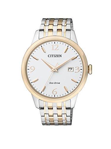 Citizen Herren-Armbanduhr Analog Quarz Edelstahl beschichtet BM7304-59A