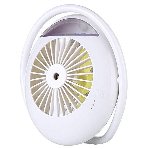HAPPY LEMON Conveniente Conveniente Moda 2000 mAh Batteria Ventola Nebbia Umidificatore Mini Aria Condizionata Acqua Portatile Ventilatore da Tavolo for la casa all'aperto Moda (Color : White)