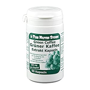 Grüner Kaffee Extrakt 300 mg Kapseln 60 Stk. – zur Versorgung mit wertvollen Chlorogensäuren aus dem Grünem Kaffee