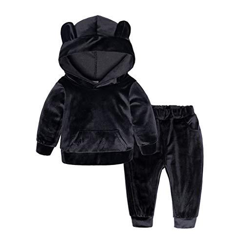 Dasongff Mädchen Jogginganzug 2tlg Baby Kinder Bekleidungsset Sportanzug Pullover mit Kapuze und Hose Trainingsanzug Kuschelig Fleece Suit Outfits Babykleidung -
