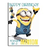 Despicable Me Minion Happy Birthday Geburtstagskarte - 1 In a Minion
