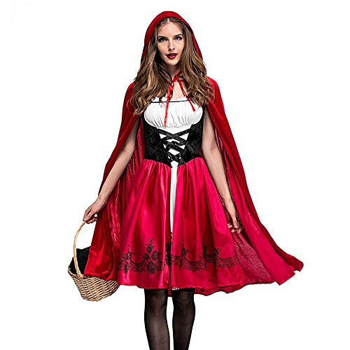 Kostüm 2 Baby Audrey - Zottom Halloween-Abschlussball-Party-mit Kapuze Kleiderschal, Frauen Halloween Kostüm Cosplay Ball Party Kapuzen Bandage Schal Kleid Anzug