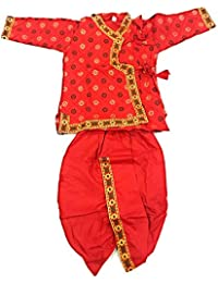 ... Clothing   Accessories   Baby   Baby Boys   Reds. Anchal Collection  Dhoti Kurta for Kids 100% Cotton 1-4 Years Boys Summer Dress 3fb30aaaab91