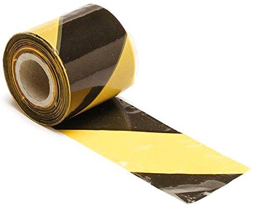 Perel 1188–250barrier tape, 250 m length x 80 mm width, yellow/black