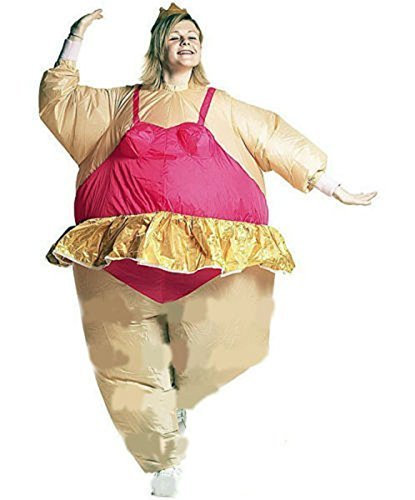 Fat Kostüme Ballerina (Edealing 1PCS aufblasbare Ballerina Kostüm Fat Suit Stag Hen Night)