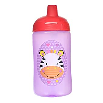 First Steps Jungle Pals Gobelet Antifuite Super Sipper Enfant Sans BPA 400ml 400ml -Zèbra Violet