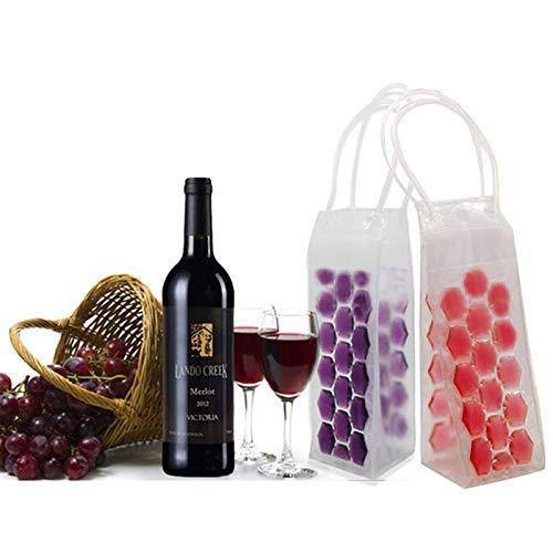 Casavidas Convenient Wine Bottle Cooler PVC Beer Cooler Bag Outdoors Ice Gel Bag Picnic Wine Cooler Chillers Frozen Bag Bottle Cooler: Red