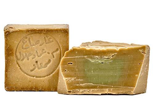 Carenesse Original Aleppo Seife 80% Olivenöl 20% Lorbeeröl ca. 170 g Olivenölseife traditionelle Handarbeit Haarseife Duschseife Rasierseife Handseife Naturseife Stückseife Vegan Naturkosmetik
