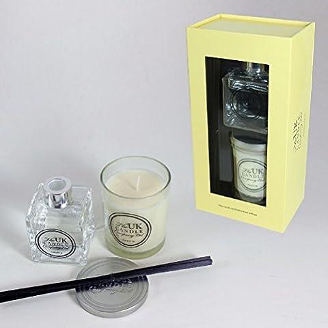 Großbritannien Candle Company Jar Kerze & Reed Diffusor Set–Vanille