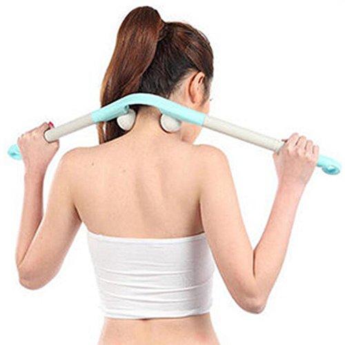 Homedics Handheld-massagegerät (Rücken und Nacken Massagegerät keine externe Stromversorgung Handheld Massagegerät Übung Arm Stärke, hellblau)
