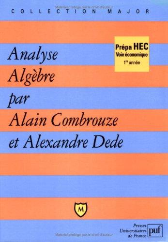 Analyse algbre