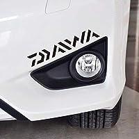 Funnyrunstore Daiwa Fischerboot oder Auto Aufkleber kreative Aufkleber Set für Dinghy Tackle Box (schwarz)