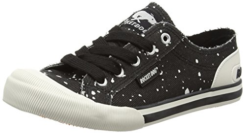 Rocket Dog Jazzin, Baskets Basses Femme Noir - Black (Drip Black)