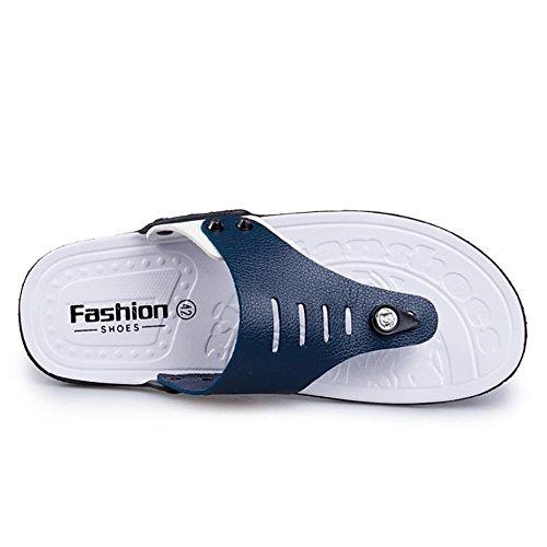 SHANGXIAN Tongs unisexe Thong sandale chausson de Mens Casual chaussures Blue