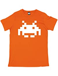 Batch1 Men's Space Invaders Printed Retro Arcade Classic Gamers T-Shirt
