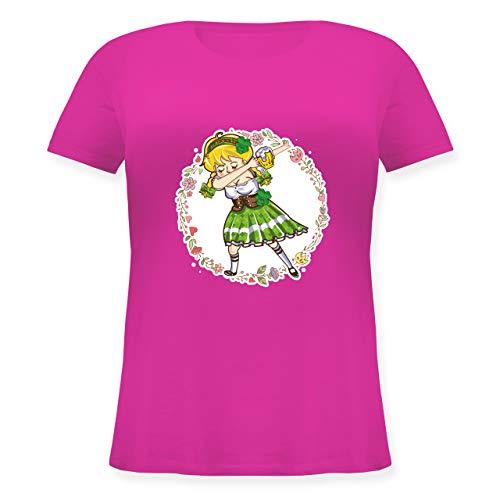 St. Patricks Day - Mädchen Dab - St. Patrick's Day - L (48) - Fuchsia - JHK601 - Lockeres Damen-Shirt in großen Größen mit - All Saints Kostüm Und Ideen