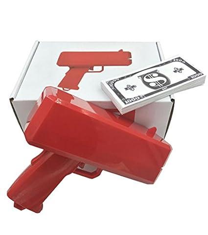 [Garantie à vie] Pistolet à Billet unique Euro / Dollar livré avec coffret cadeau contenant 100 faux billets