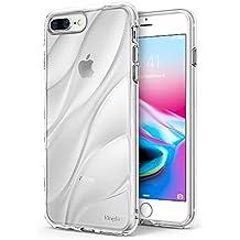 Cover iPhone 8 Plus / iPhone 7 Plus, Ringke Flow [Clear] Minimalista ondulato strutturata Assorbimento Shock TPU Forma leggera Goccia Protezione resistente Protezione trasparente Custodia - Chiaro