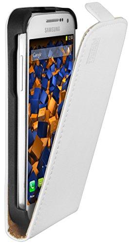 mumbi PREMIUM Leder Flip Case Samsung Galaxy S4 mini Tasche weiss