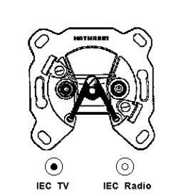 Kathrein ESD 52 Breitband-Richtkopplerdose für Durchschleifsysteme in Sat-Einfamilienhausanlagen (IEC-Anschluß) -
