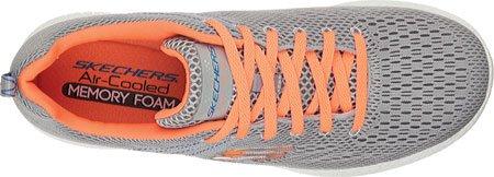 Skechers Burst-Second Wind, Baskets Basses Homme Light Gray/Orange