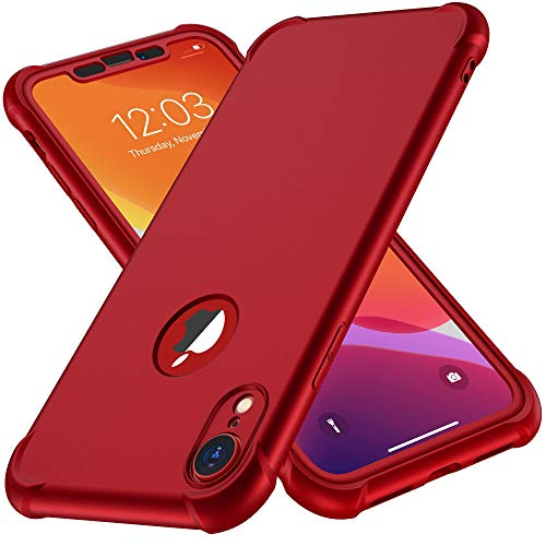 ORETECH Coque iPhone XR, Coque iPhone XR avec [2 x Protecteur D'écran en Verre Trempé] 360°Housse...